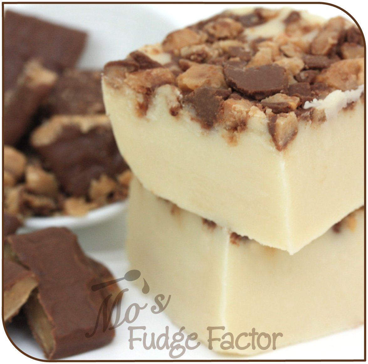 Amazon.com : Mos Fudge Factor, Vanilla Butter Crunch Fudge 1 pound : Grocery & Gourmet Food