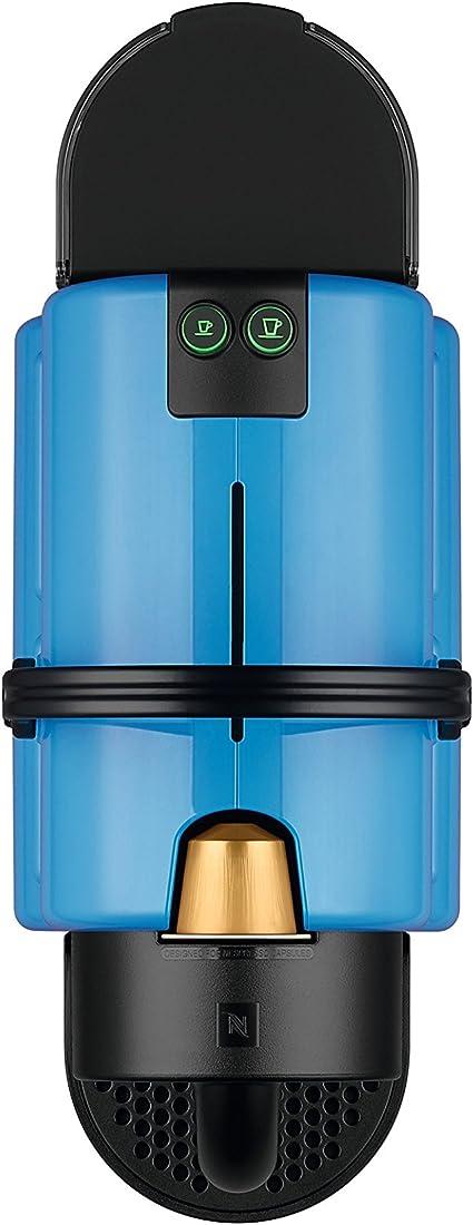 DeLonghi Inissia Pacific Blue Cafetera nespresso, programable, color azul (Reacondicionado Certificado)