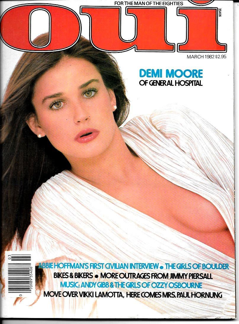 Amazon Com Oui Busty Adult Magazine March 1982 Demi Moore Oui Books