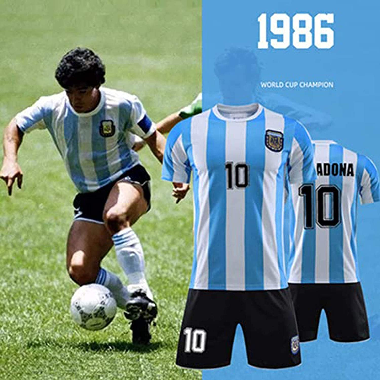 Ne Pleure Pas Pour Moi Argentine XS Argentine 1994 Maillot De Football R/étro Maradona /à Domicile # 10 Diego Maradona Argentine # 10 1986 Maillot De Football R/étro