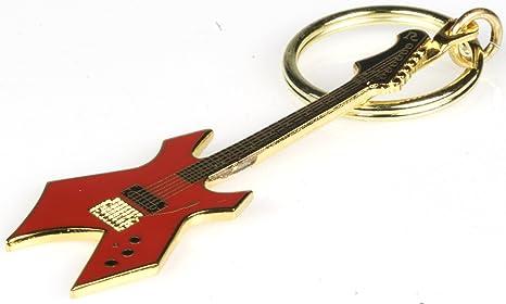 Harmony Jewelry B.C. Rich Warlock guitarra eléctrica llavero – rojo