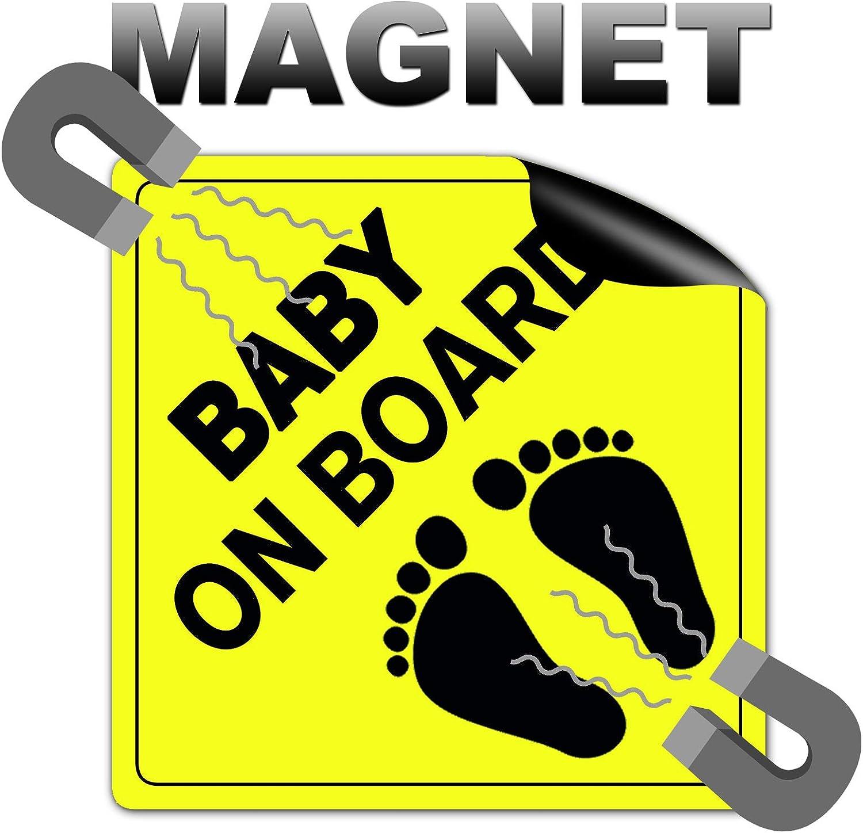 Strobo Baby On Board 10x10cm Baby An Bord Magnetschild Magnetfolie Auto