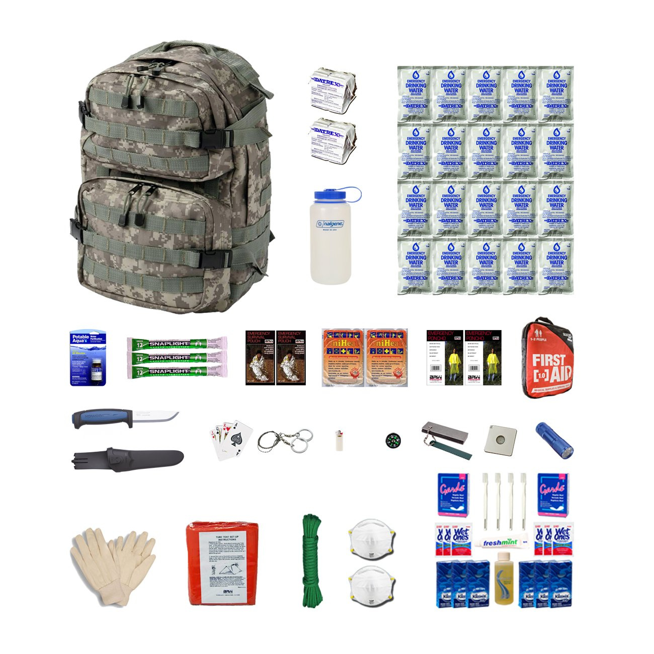 Extreme Survival Kit Two For Earthquakes, Hurricanes, Floods, Tornados, Emergency Preparedness