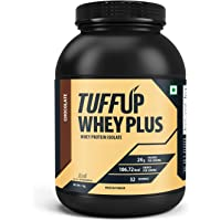 Tuff Up Whey Plus Protein - 1 kg (Chocolate), 24g protein per serving, made from imported whey