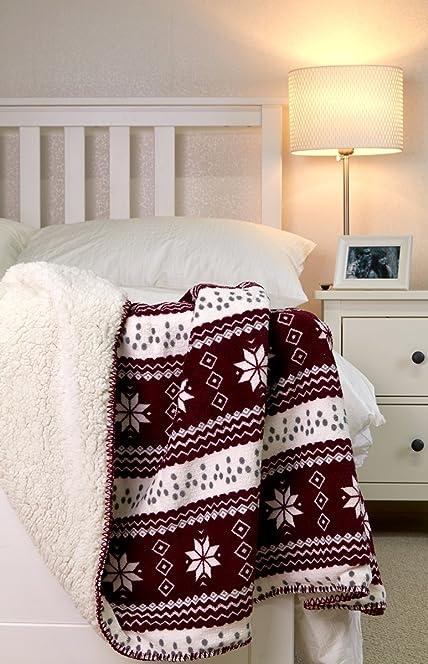 FOREVER DREAMING Luxury Throw Blanket Fairisle Print SuperSoft ...