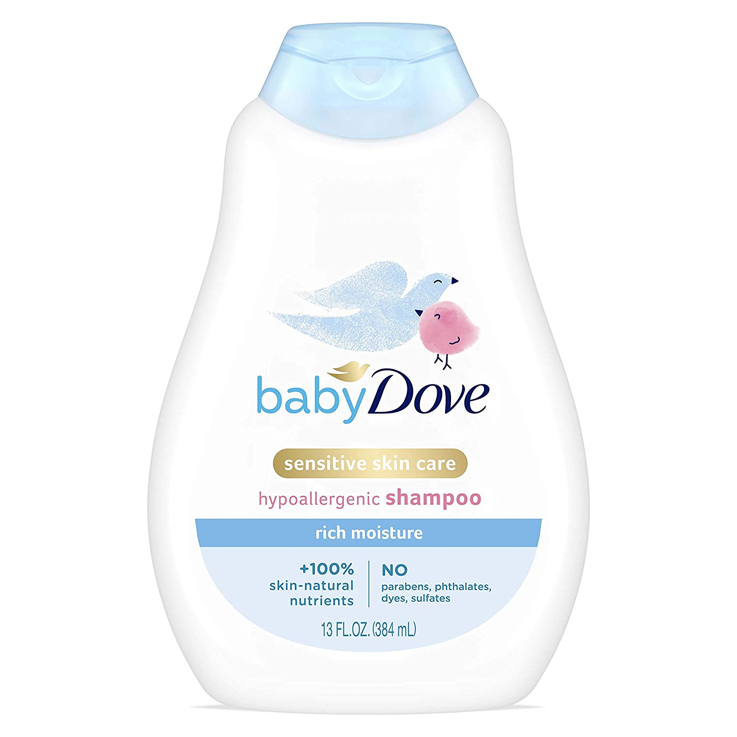 Baby Dove Shampoo For Baby's Hair and Scalp Rich Moisture Hypoallergenic and Tear-Free 13 oz