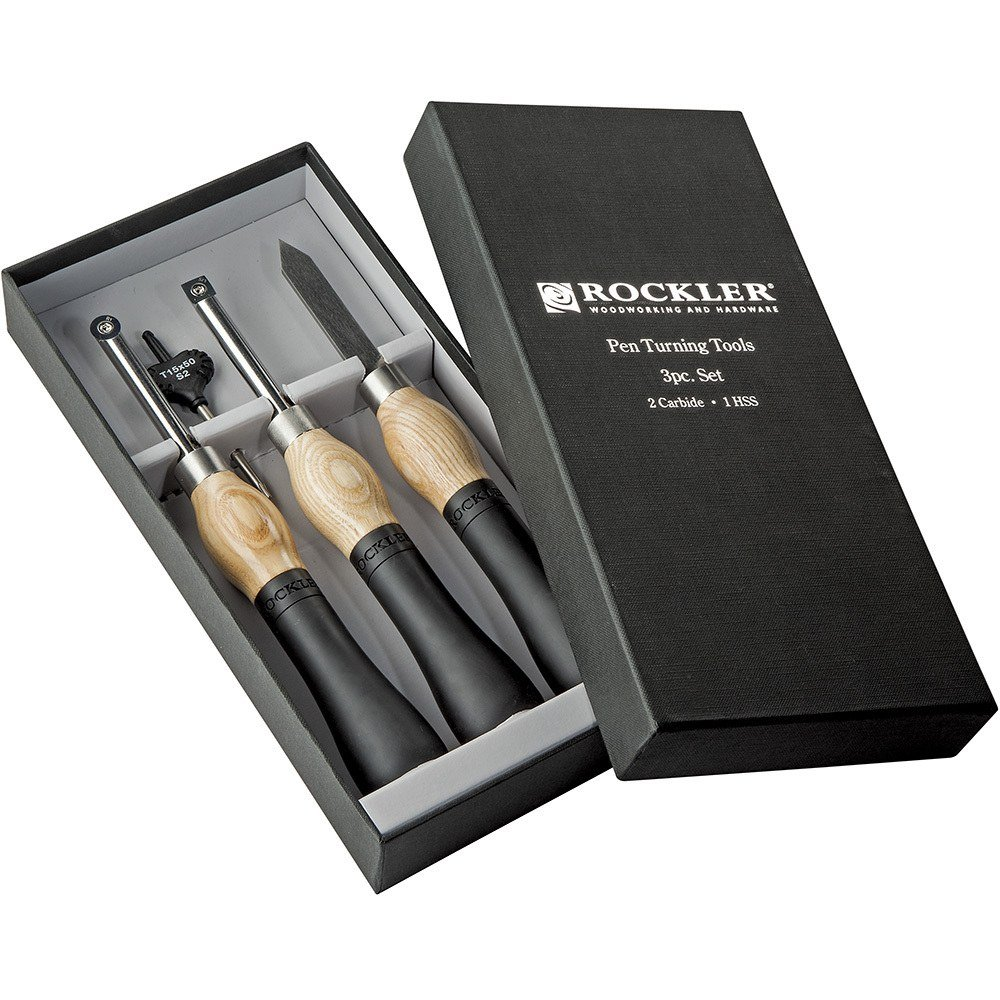 Rockler Carbide Pen Turning Tool 3-Piece Set