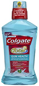 Colgate Total for Gum Health Mouthwash, Clean Mint - 500mL, 16.9 fluid ounce(Pack of 6)