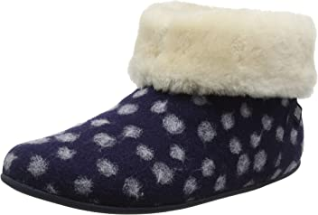 Fitflop Women's Sarah Shearling Dots Hi-Top Slippers