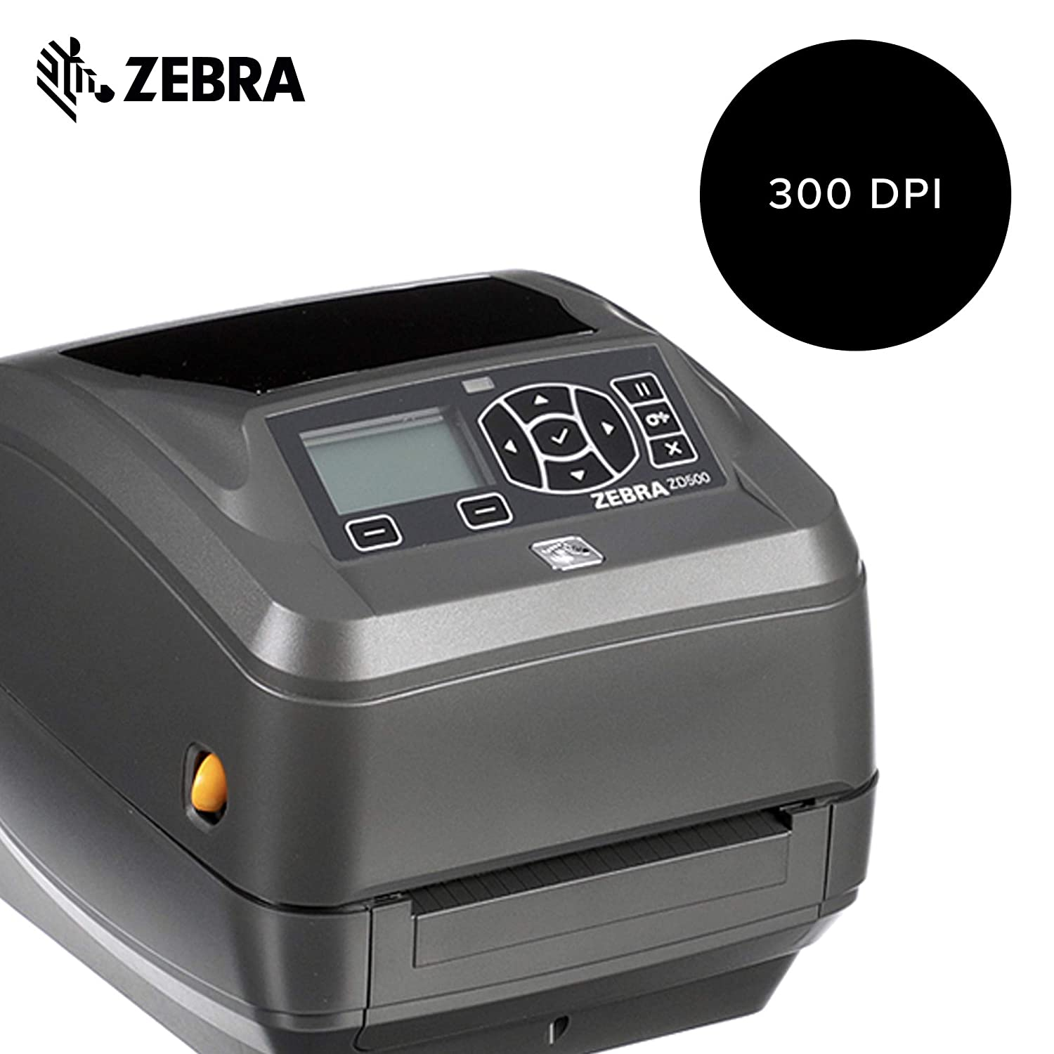 Zebra - ZD500t Thermal Transfer Desktop Printer for Labels and Barcodes -  Print Width 4 in - 300 dpi - Interface: Ethernet, Parallel, Serial, USB -
