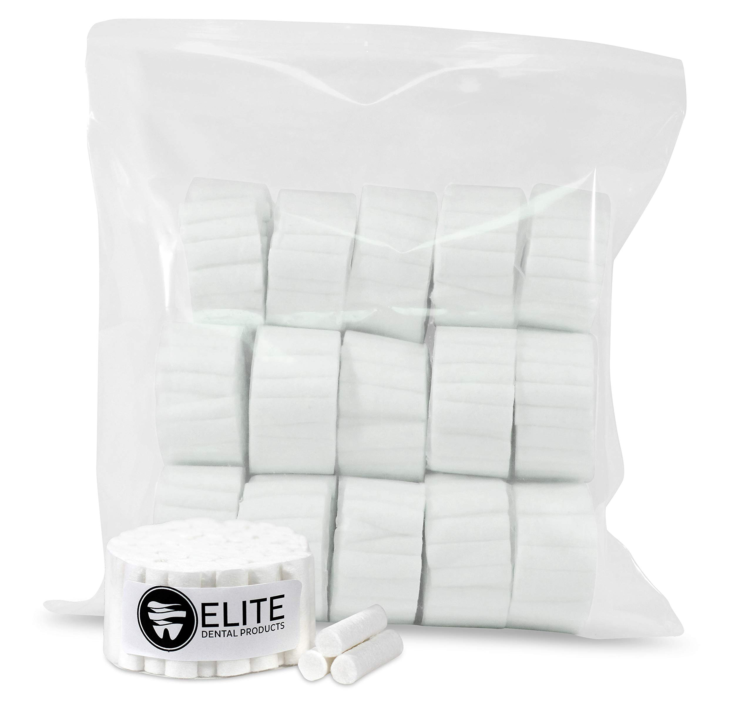 Cotton Rolls #2 Medium 1.5'' Non-Sterile 100% High Absorbent Cotton (Pack of 800) by Elite Dental Products
