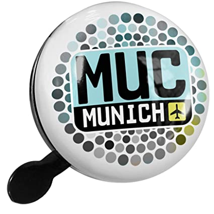 Amazon.com : NEONBLOND Bike Bell Airport Code MUC/Munich ...