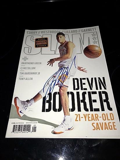 81d3dc110dd Devin Booker Signed SLAM Magazine Phoenix Suns AUTOGRAPH - Autographed NBA  Magazines