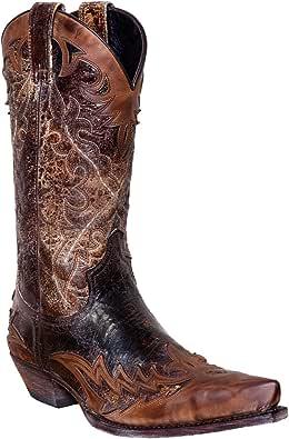 Sendra Botas de vaquero 9669en color marrón antiguo incl. Roy Dunn 's piel grasa y Sacabotas
