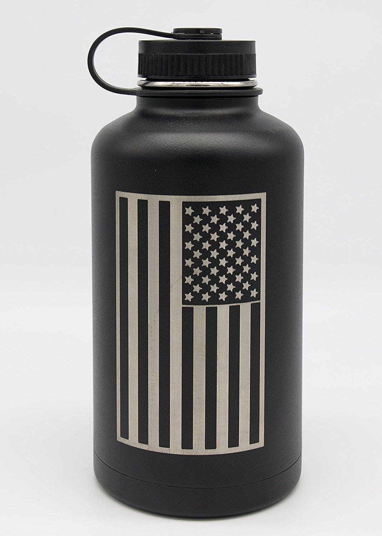 Botella de agua con aislamiento de 64 oz BPA libre por ...