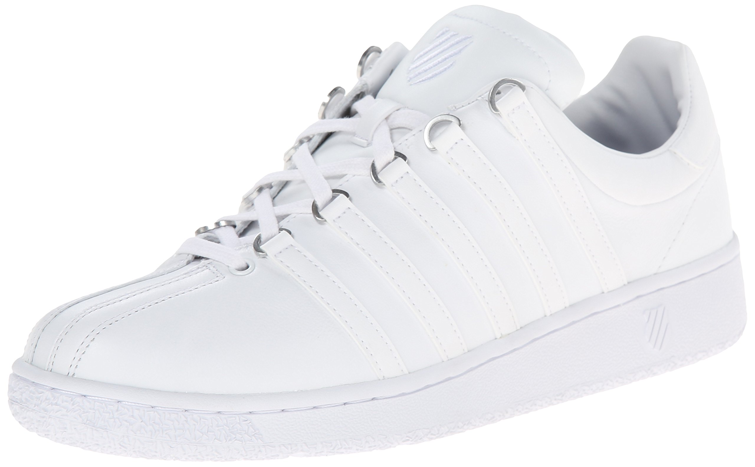 K-Swiss Men's Classic Vintage Updated Iconic Shoe, White/White, 11 M US by K-Swiss