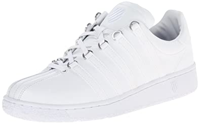 26668073fc3934 K-Swiss Men's Classic Vintage Updated Iconic Shoe, White/White, 6.5 M