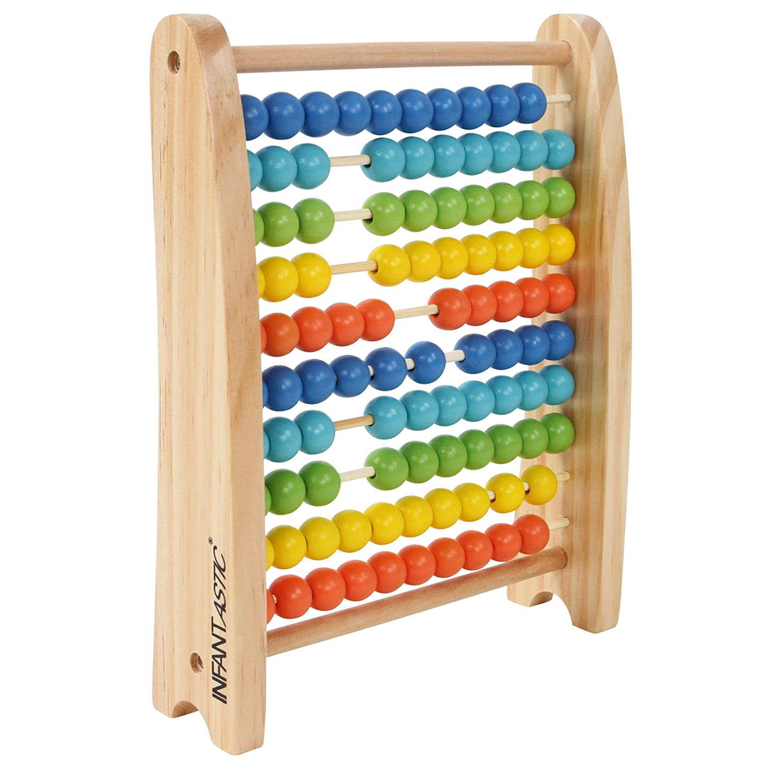 Infantastic Abacus (100 Colourful Wooden Beads) Basic Arithmetic Educational Kid Children Learning Counting Number Math Fun Toy