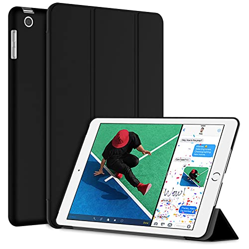 JETech Case for Apple iPad (9.7-Inch, 2018/2017 Model), Smart Cover Auto Wake/Sleep, Black