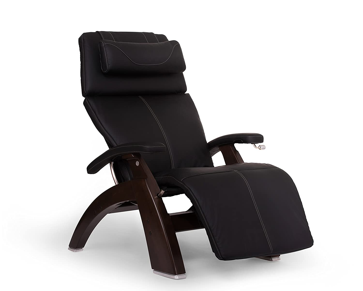 "Perfect Chair ""PC-420"" Better-Than-Leather SofHyde Hand-Crafted Zero-Gravity Dark Walnut Manual Recliner"
