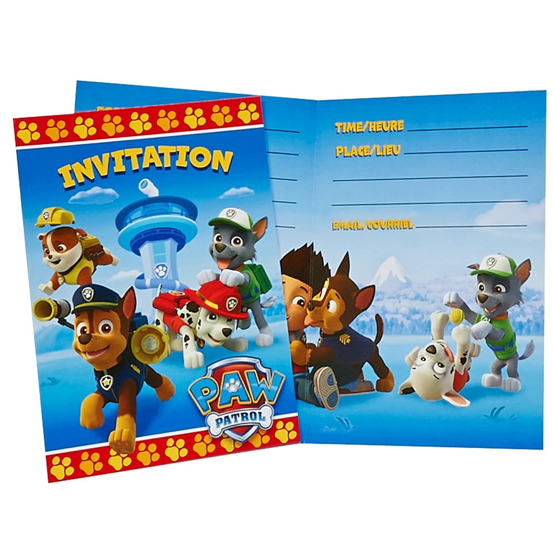 Unique Industries Paw Patrol Invitations 8 Pack