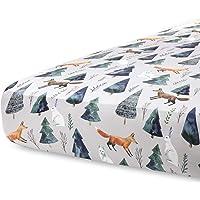 Pobi Baby - Premium Fitted Crib Sheets for Standard Crib Mattress - Ultra-Soft Cotton Blend, Stylish Animal Pattern…