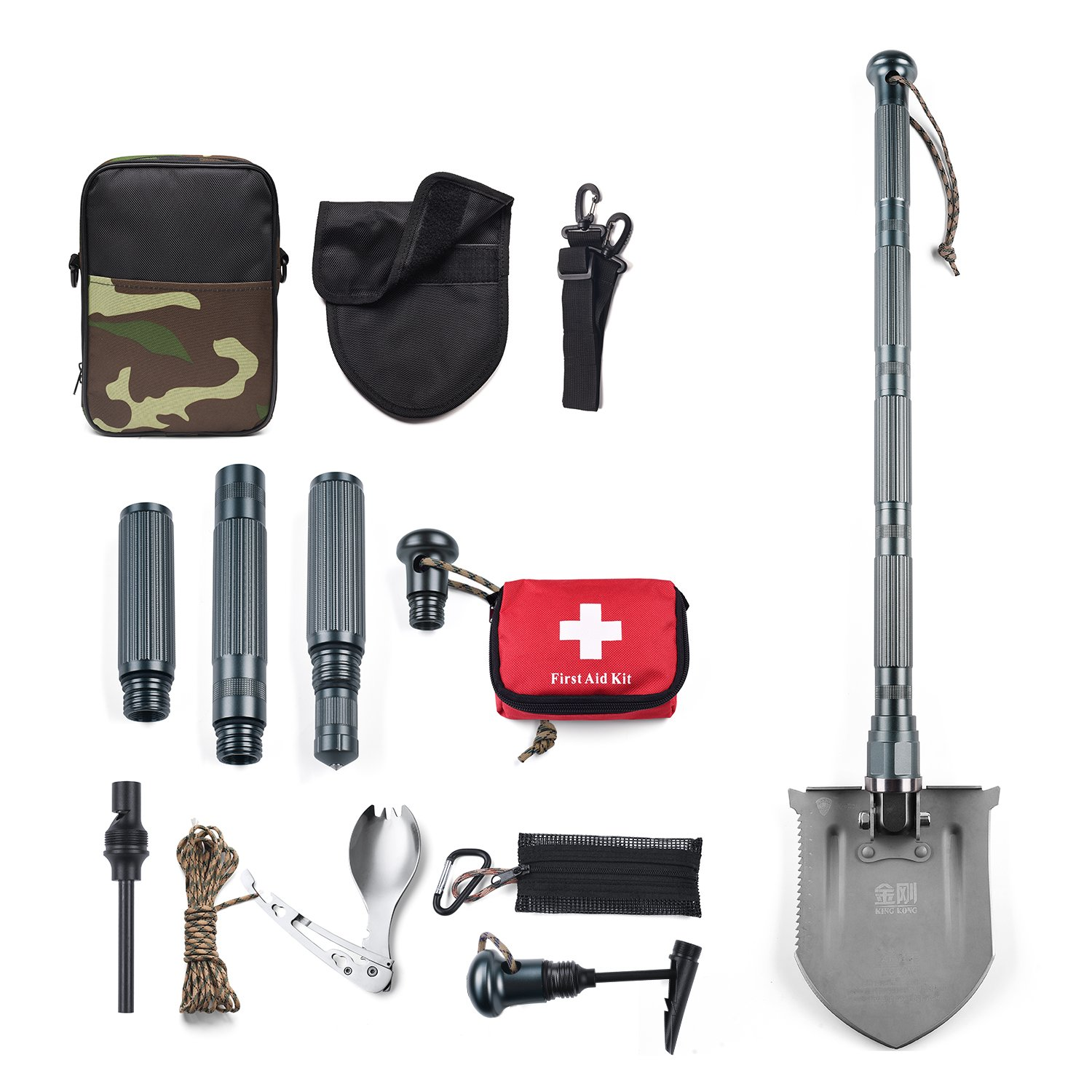 Wohous Military Folding Shovel Multitool