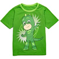 PJ Masks Camiseta Gekko para niño pequeño con capa - Camisas de superhéroe para niños