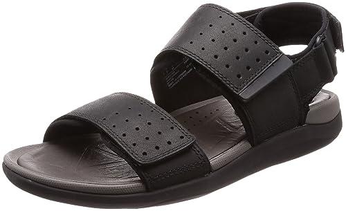 c23dbae5c5d7 Clarks Mens Strapped Sandals Garratt Active - Black Leather - UK Size 6G -  EU Size
