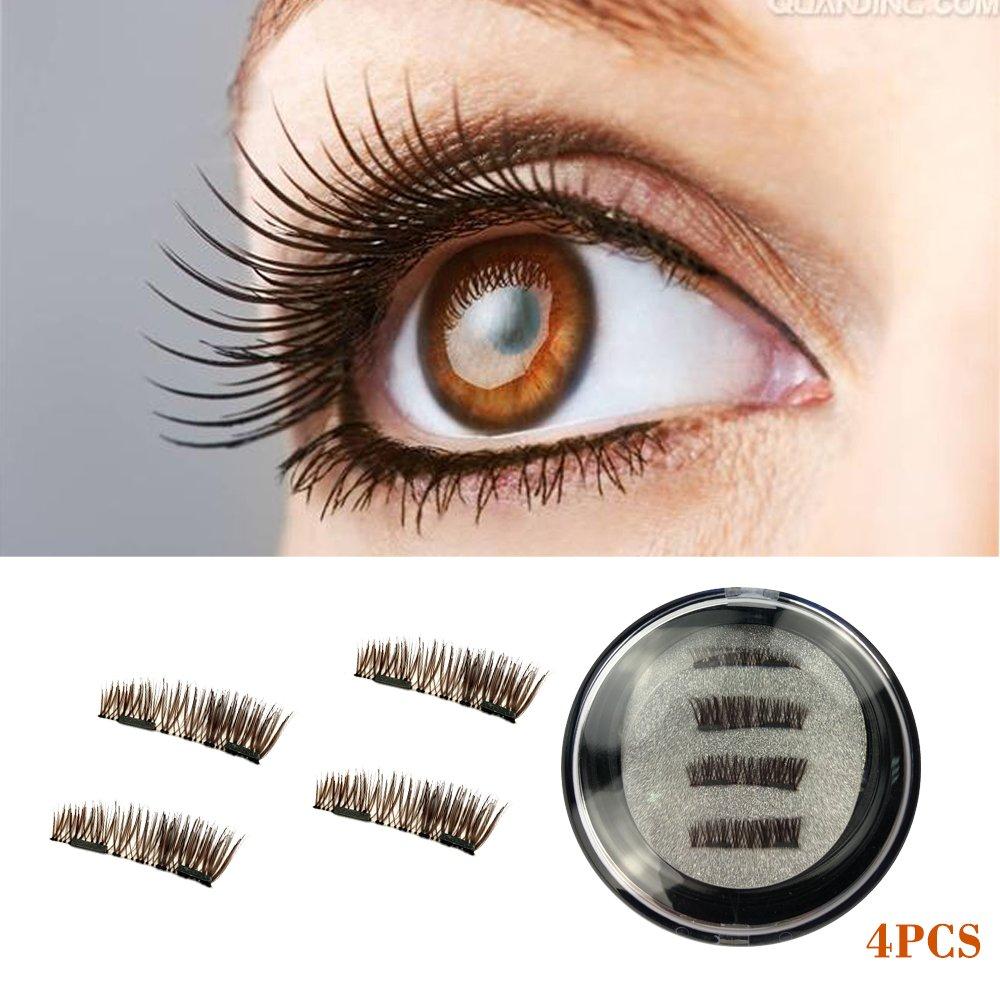 Amazon Brown Dual Magnetic False Eyelashes Premium Magnet No