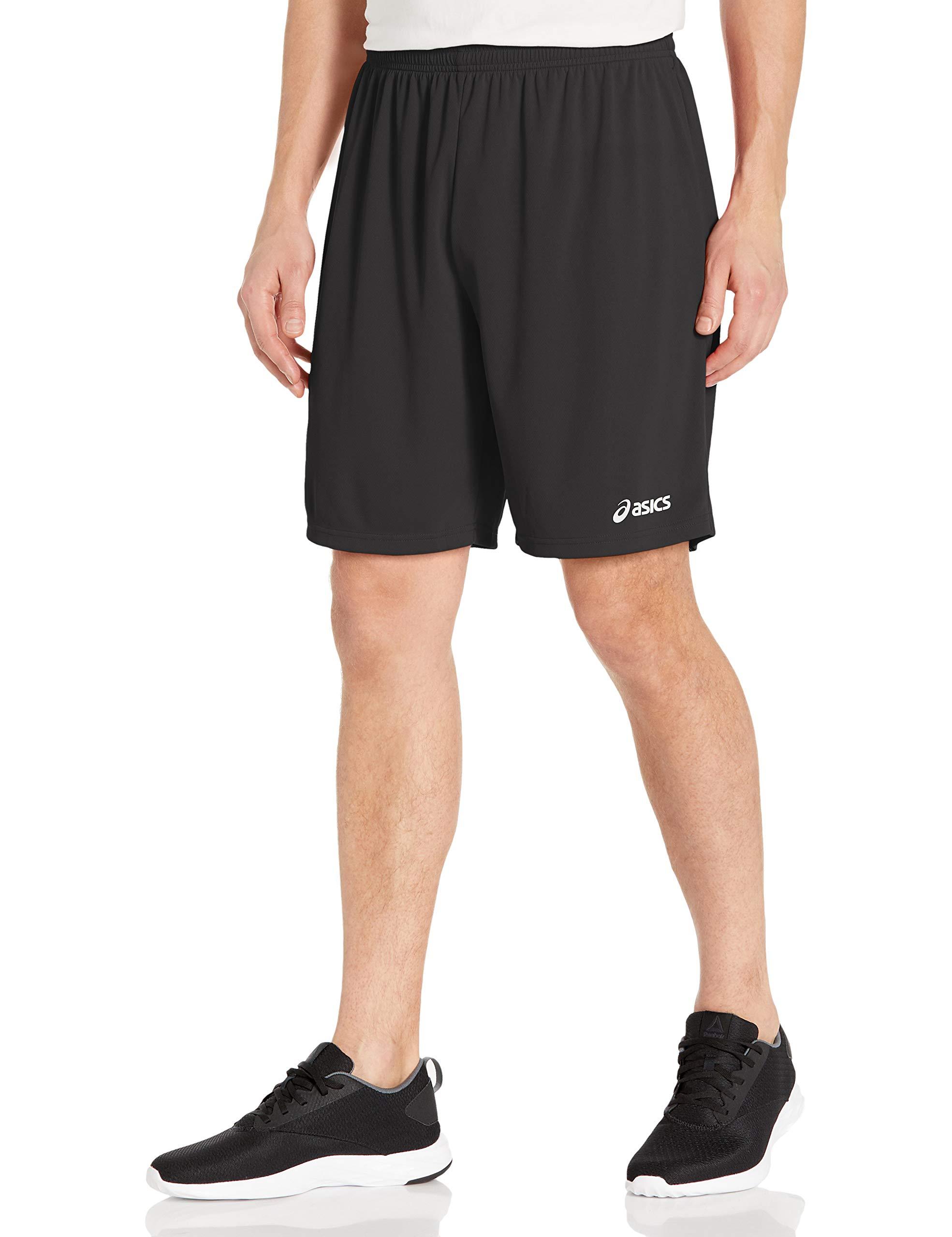 """ASICS Men's 9"""" Team Knit Shorts, Black, Medium"""