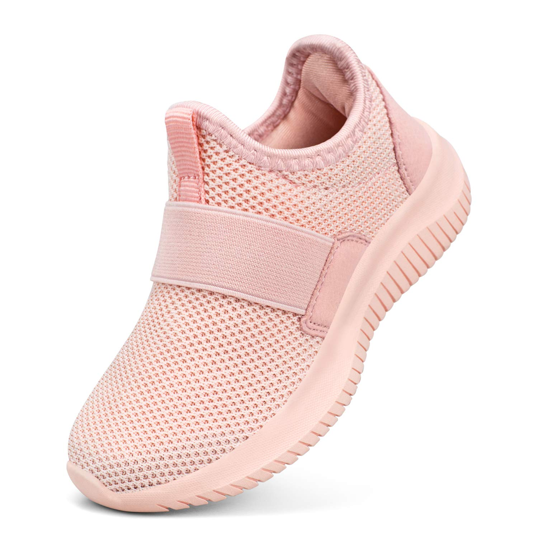 Troadlop Girls Tennis Shoes Mesh Super Light No Laces Sneakers for Girls Size 1 Little Kid by Troadlop