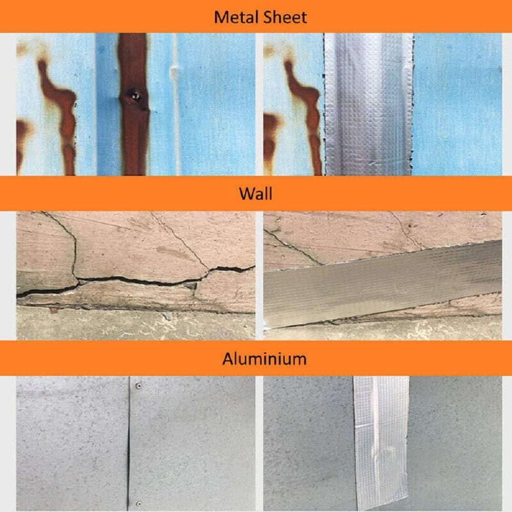 Starke Qualit/ät wasserdichtes Klebeband Butylkautschuk Aluminiumfolie Tape wasserdichtes Klebeversiegelung f/ür Rohr Glas Boden Dach Fenster Wand 1.5mm*10cm*5m