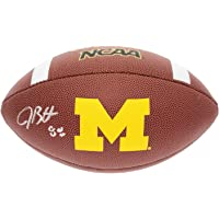 $52 » Jake Butt Autographed Signed Michigan Wolverines Wilson Logo Football - JSA Authentic
