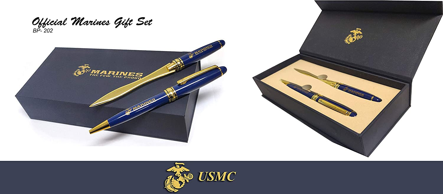 set The Best Gift idea for Proud MARINES MARINES ball point Pen Letter opener