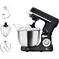 Stand Mixer, POSAME 500W Professional Kitchen Mixer with 5-Quart Stainless Steel Bowl, 6-Speed Dough Mixer with Dough Hook, Whisk, Beater