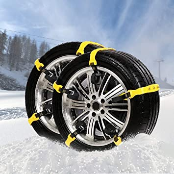 for Tire Width: 185-295mm//7-11 JUISEE Car Snow Chains Snow Tire Chains for Most Cars Anti-Slip Car Chains Car Emergency Chains All Season Anti-Skid Snow Cables Car SUV Tire Cables