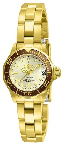 Invicta 12527 Pro Diver Reloj para Mujer acero inoxidable Cuarzo Esfera  champán  Amazon.es  Relojes 9395b4d0506b