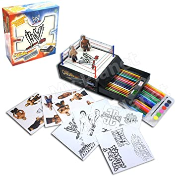 wwe official wrestling colour ring stationery colouring art activity box set toy - Wwe Pictures To Colour