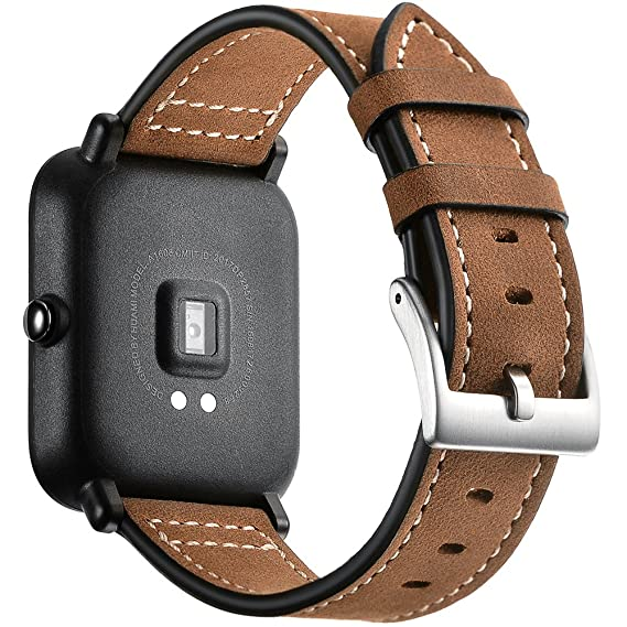 Amazon.com: Xiaomi Huami Amazfit Bip Youth Leather Bands ...