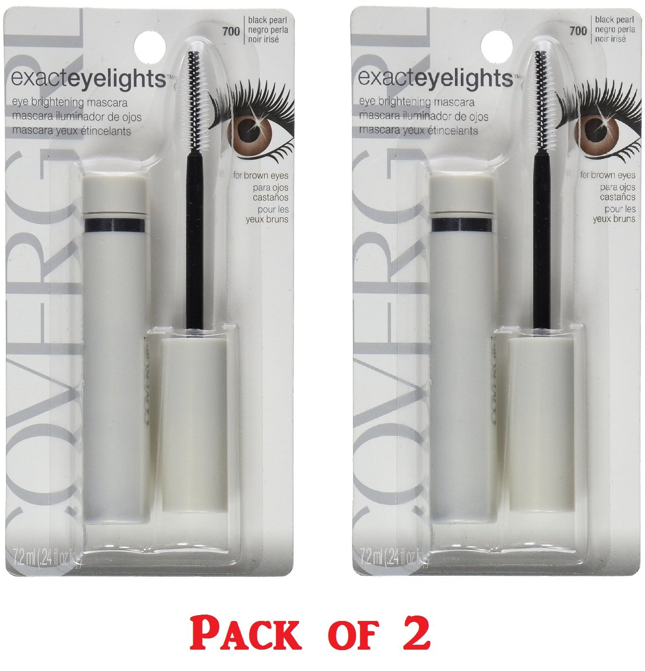 Amazon.com : CoverGirl Exact EyeLights Regular Mascara, Black Pearl [700], 0.24 oz (Pack of 4) : Beauty