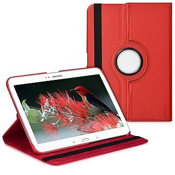 kwmobile Funda compatible con Samsung Galaxy Tab 3 10.1 P5200/P5210 - Carcasa de cuero sintético para tablet en rojo