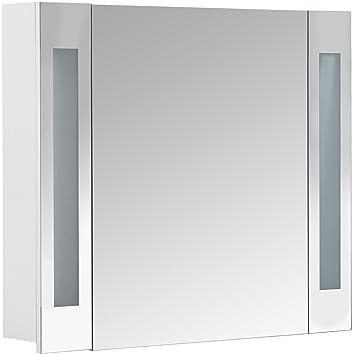 Spiegelschrank holz weiß  Galdem CURVE80 Spiegelschrank, holz, 80 x 70 x 15 cm, weiß: Amazon ...