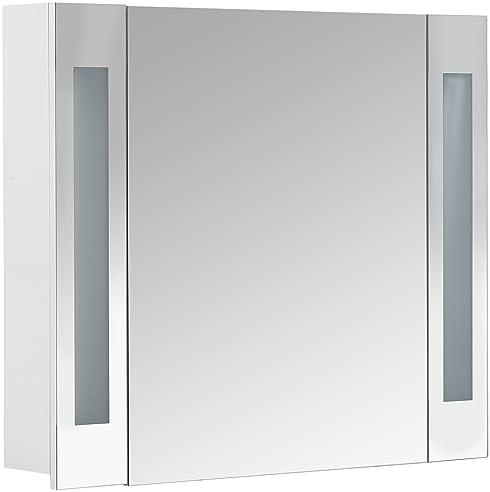 Galdem CURVE80 Spiegelschrank, holz, 80 x 70 x 15 cm, weiß: Amazon ... | {Spiegelschrank holz weiß 15}