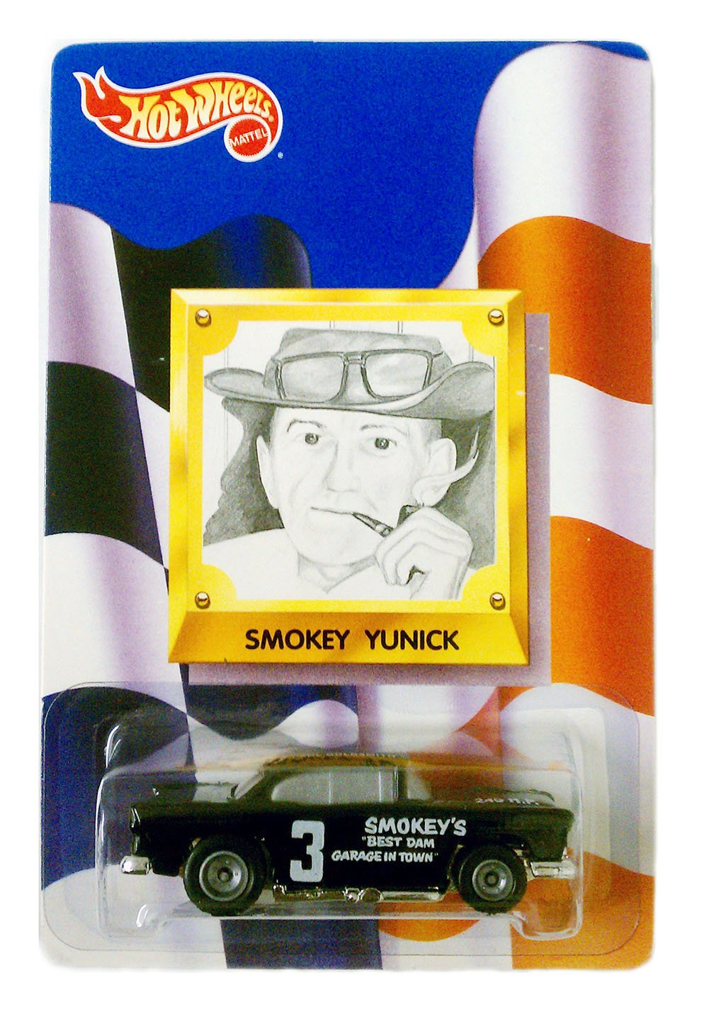 1992 Hot Wheels SMOKEY YUNICK Limited Edition 55 CHEVY #3 Stock Car