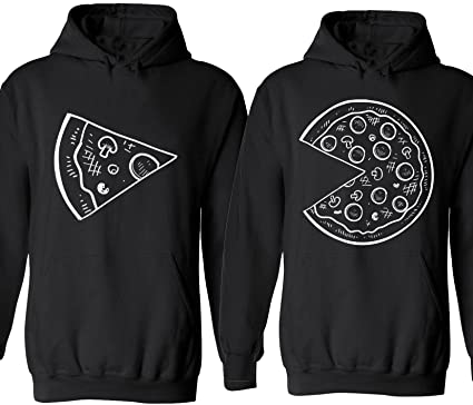 The Missing Piece Pizza \u0026 Slice , Matching Couple Hoodies , His and Her  Sweaters