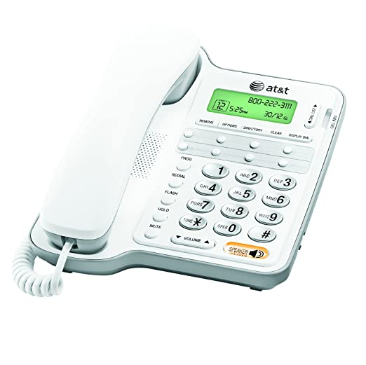 AT/&T 958 Corded Speakerphone with Caller ID White