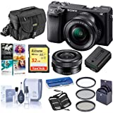 Sony Alpha a6400 24.2MP Mirrorless Digital Camera with 16-50mm f/3.5-5.6 OSS Lens - Bundle with Camera Case, 32GB SDHC…