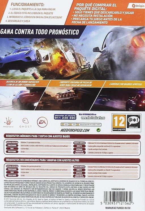 Need for Speed Payback - Edición estándar (La caja contiene un código de descarga): Amazon.es: Videojuegos