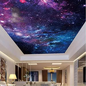 Pbldb Custom Wallpaper Ceiling Stickers Mural 6D Beautiful Starry Sky 6D Living Room Bedroom Zenith Ceiling Decoration Wall Painting Art-350X250Cm